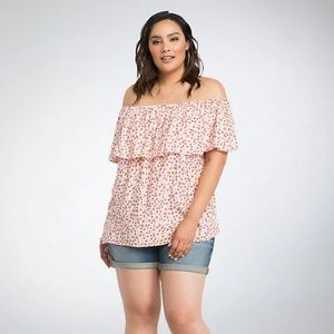 Torrid | Floral Ruffle Off the Shoulder Top Sz 2X
